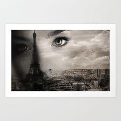 """Face of Paris"" art print"