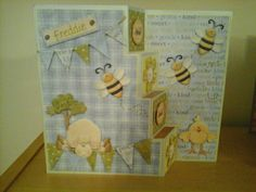 Stepping Card for Christening -nit wit collection images