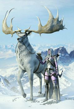 deer and rider