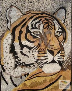 AN013 Marble Mosaic Wild Tiger Tile Just...WOW.