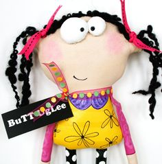 UgLee Kid named LuLu ... Whimsical WaLL ArT ... by buttuglee