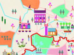 Copenhagen Map, Walking Routes, Map Design, Magazine Design, Kids Rugs, Crafts, Uganda, Maps, Map Of Copenhagen