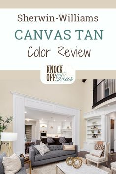 In this paint review I dig into the Sherwin-Williams Canvas Tan paint color. A timeless and cozy beige. Learn how to best use this antique, golden beige in your home. Beige Paint Colors, Interior Paint Colors, Paint Colors For Home, Sherman Williams Paint, Most Popular Paint Colors, Trending Paint Colors, Pinterest Home, Country Interior, Home Upgrades