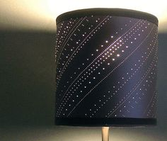 How to create a beautiful punctured paper lampshade. Video tutorial.