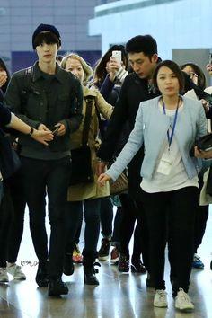 [140325] Ahn Jaehyeon at Shanghai Airport
