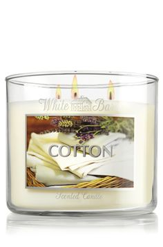 Bath and Body Works 3 wick candles -- Cotton 14.5 oz. 3-Wick Candle - Slatkin & Co. - Bath & Body Works