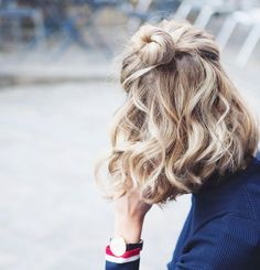 Half bun easy hairstyle