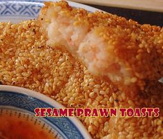 Sesame Shrimp / Prawn Toasts - How could you resist! These are great with a nice sweet chili sauce dip. Serve as a starter or finger food at parties. Be sure to make plenty! Also works great using chicken too. Lovefoodies