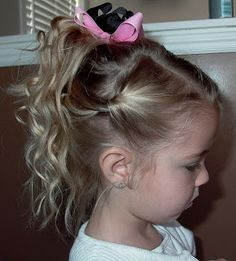 Little Girl's Hairstyles -French Twist Updo with Curls