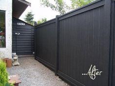 Before U0026 After: Elkeu0027s Greenhouse Teardown. Grey Fence PaintFence ...