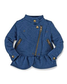 Fleece Moto Jacket - Baby Girl Outerwear - RalphLauren.com