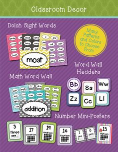 Want a little choice in your classroom decor?