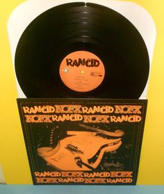 NOFX and RANCID play covers of each others songs Split LP Record , orange cover #PUNK