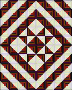 Better image of the designhttp://www.generations-quilt-patterns.com/log-cabin-quilt-designs.html