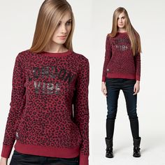 #new #newcollection #newarrivals #women #womencollection #fw15 #fallwinter15 #burgundy #print #sweatshirt #pepejeans