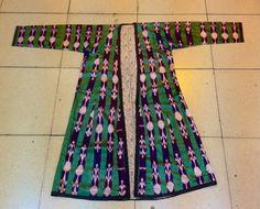 ikat vintage silk kaftan Uzbek vintage old kaftan by akcaturkmen