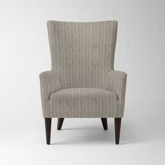 Victor Armchair - Solids | West Elm. Chair idea for living room. Many fabrics available.