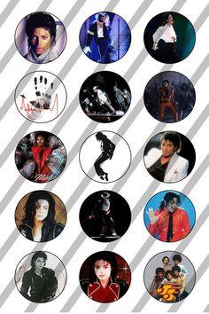 Michael Jackson digital collage sheet 4x6 for bottlecaps - 1 inch - INSTANT DOWNLOAD (1.69 EUR) by DesignandArtbyLeo