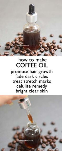 HOMEMADE COFFEE OIL RECIPE AND BENEFITS is part of Nature crafts Products - If you are a coffee lover then you definitely love the products that are made from coffee Coffee is an excellent beauty aid, it is full of antioxidants and Coffee Oil Recipe, Celulite Remedies, Diy Beauty Hacks, Diy Hacks, Belleza Diy, Fast Hairstyles, How To Make Coffee, Bright Skin, Homemade Skin Care