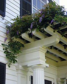 Pretty Outdoor Rooms, Outdoor Gardens, Outdoor Living, Farm Gardens, Dream Garden, Home And Garden, Wisteria Arbor, White Wisteria, Gazebos