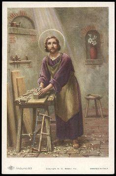 "santino-holy card""""ediz. NB serie INDUNO  n.83 S.GIUSEPPE"