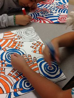 I saw a similar project to this online and decided it would be a successful project for my fifth graders. They had to use a cool color on th...