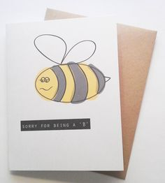 Sorry for Being a B - Im Sorry #Card by #msmatildadesign on #Etsy #greeting