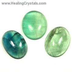 Cabochons - Green/Blue Fluorite Oval Cabochon (India)