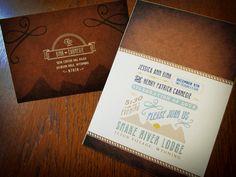 Wyoming Rustic Wedding Invitations