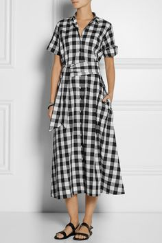 Lisa Marie Fernandez | Gingham poplin shirt dress | NET-A-PORTER.COM