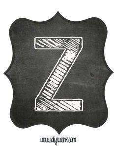 Printable_Chalkboard_ Letter_Z