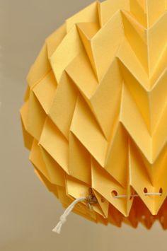 BUBBLE: Origami Paper Lamp Shade GOLD YELLOW / от FiberStore
