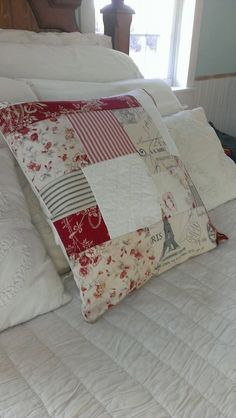 Christmas Pillow Cover French General Inspired by thewildraspberry, $35.00