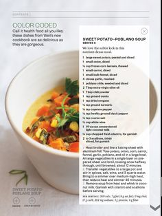 Yummy 'power food' soup! Comfort and nutrition all in one.