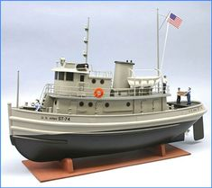 US Army Tug Boat Kit, Scale.During WWII, the US Army operated a fleet of small tugs, designated as ST. Wooden Boat Kits, Wooden Boat Building, Wooden Boat Plans, Boat Building Plans, Wooden Boats, Make A Boat, Build Your Own Boat, Tug Boats, Motor Boats