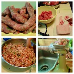 Homemade Lao Sausages Sausage Making, How To Make Sausage, Sausages, Charcuterie, Asian Recipes, Homemade, Meat, Chicken, Food