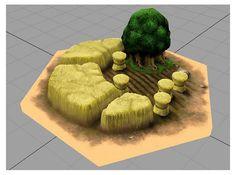 3D Printed Settlers of Catan Hexagon Wheat