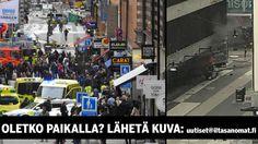 Kuorma-auto ajoi päin Åhlensin tavaratalon seinää Tukholman keskustassa perjantaina iltapäivällä. Pääministeri Löfvenin mukaan kaikki viittaa siihen, että kyseessä oli terrori-isku.