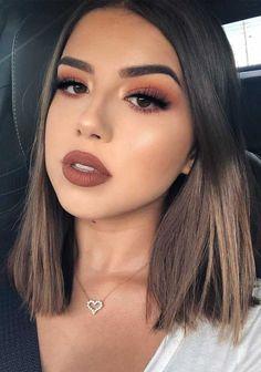 Brown Skin Makeup, Nude Makeup, Makeup For Green Eyes, Hair Makeup, Makeup Lips, Skull Makeup, Makeup Looks For Brown Eyes, Prom Makeup Brown Eyes, Makeup Art