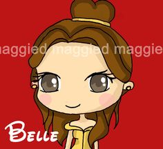 Chibi Belle   Belle Chibi by maggied17