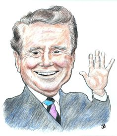 REGIS PHILBIN ~ By JP's custom caricatures '_____________________________ Reposted by Dr. Veronica Lee, DNP (Depew/Buffalo, NY, US)