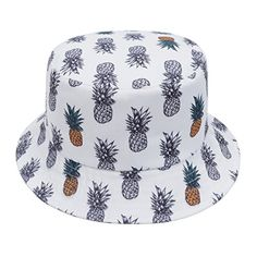 ccf515e2e28 GP Accessories Trends Fashion Bucket Hat Large Famingo Palm Tree White at Amazon  Men s Clothing store
