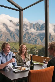 Stunning view from Hillary's Restaurant at Copthorne hotel and apartments in Queenstown.  #queenstown #travel #hotel #food #dining
