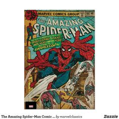 The Amazing Spider-Man Comic #186 Poster. Personalize these Classic Marvel character designs and make perfect gifts for any fans. #marvel #comic #gifts #birthday #birthdayparty #birthdaycard #personalize #kids #shopping