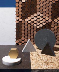 Formas geometricas de diferentes materiais  Caesar Stone—Victoria Ling