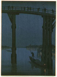 Kobayashi Eijiro: High Bridge - Night Scene Series - Artelino
