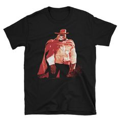 Gorilla Spaghetti Western Cowboy T-Shirt – Jurassic Gorilla Day Of Anger, Magnum Force, Sam Peckinpah, Sergio Leone, Western Comics, Mojave Desert, Planet Of The Apes, Clint Eastwood, Death Valley
