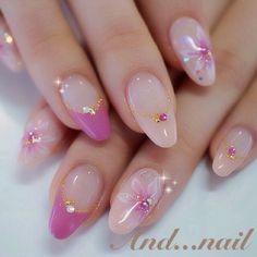 20 Classic Ideas for a Delicate Manicure Beautiful Nail Designs, Beautiful Nail Art, Cute Nails, Pretty Nails, Nail Art Designs, Gel Nagel Design, Kawaii Nails, Japanese Nail Art, Rhinestone Nails