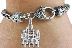 Marching Band Bracelet - Silver Bracelet w Silver Charm & Lobster Clasp
