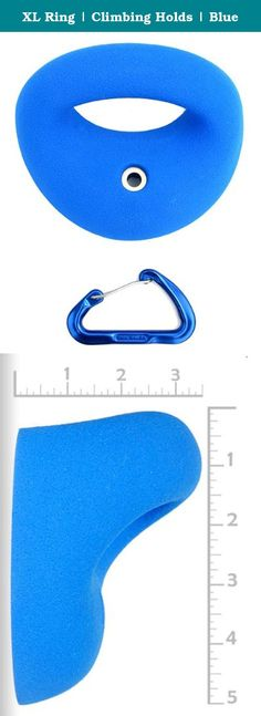 "XL Ring | Climbing Holds | Blue. We have 3 versions of this design. It is offered in a Large 1"", a 1.5"" XXL, and a 2.5"" XXL. This is the 1.5"" XXL. The measurements given are the thickness of the material you are grabbing on to. This XL size offers room for your whole hand to wrap around the handlebar. The 1.5"" diameter easily allows your pointer finger to touch your thumb. Now you can Tarzan swing your way through roofs and dynos!."